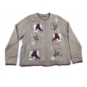 Croft & Barrow Winter Christmas Cardigan Sweater